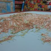 3D Tasmania Relief Wall Map