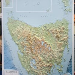 3D Relief Map of Tasmania
