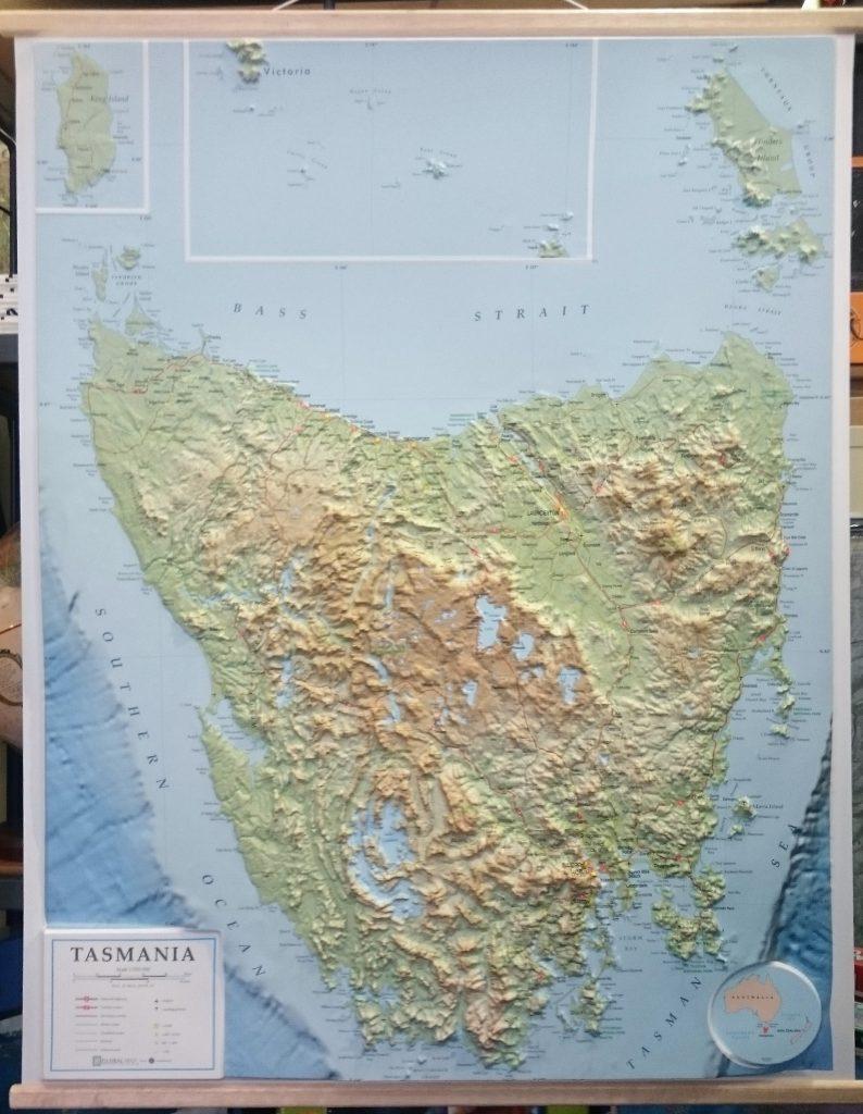 Tasmania 3d Relief Map