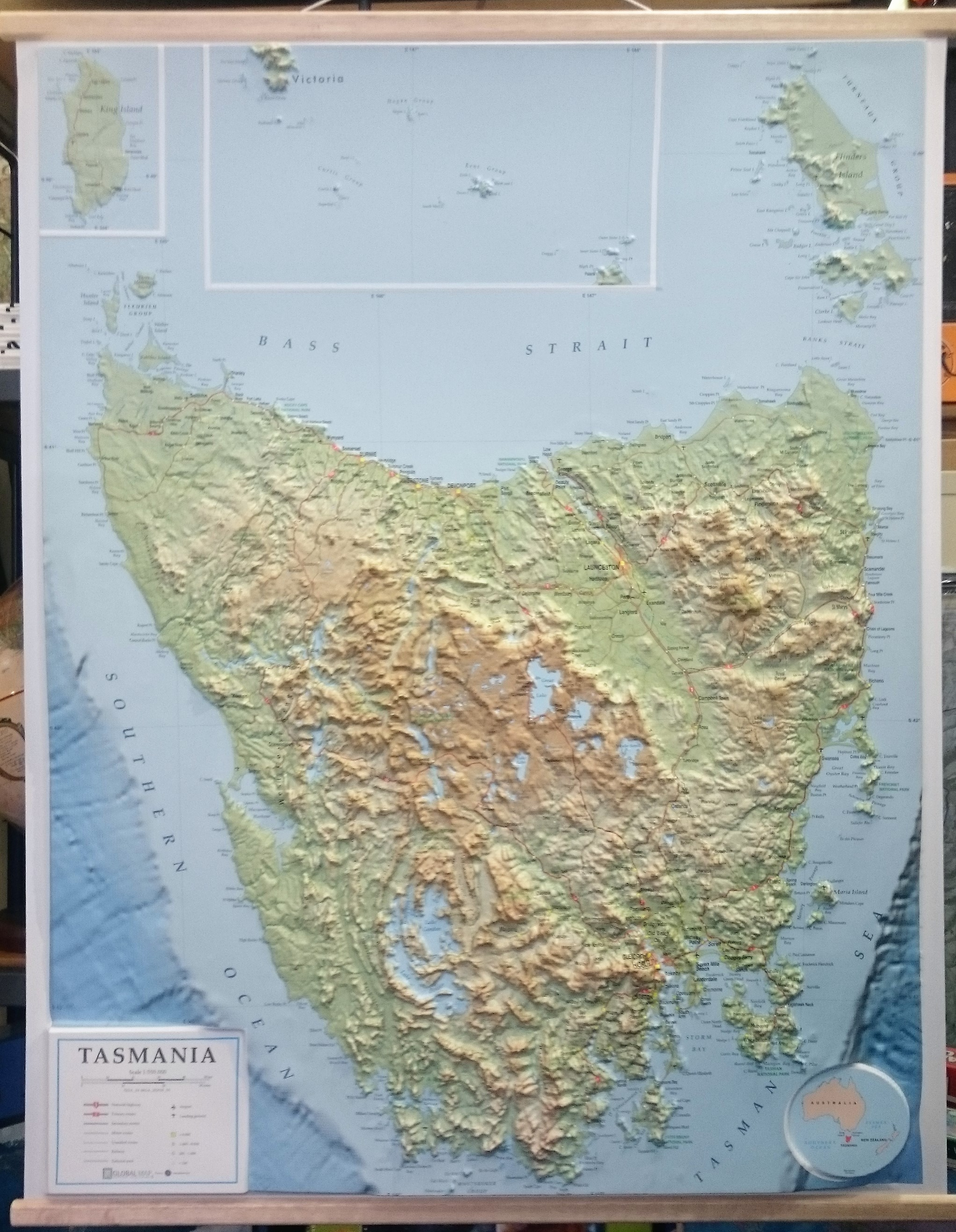 Map Of Australia And Tasmania.Tasmania 3d Relief Map The Tasmanian Map Centre