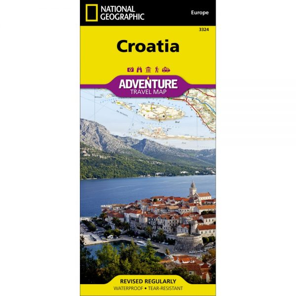 Croatia Adventure Travel Map