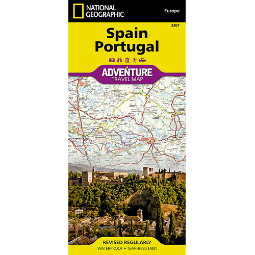 Spain Portugal Adventure Travel Map 3307