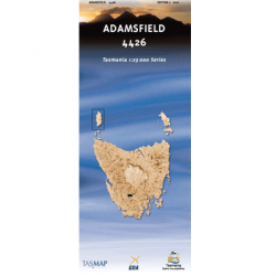 Adamsfield 1:25,000 Topographic Map