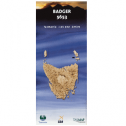 Badger Topographic Map