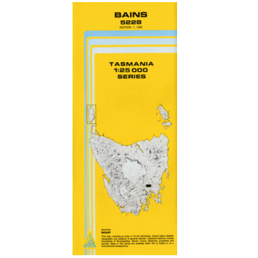 Bains Topographic Map