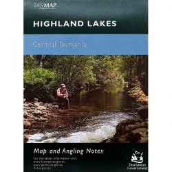 Highland Lakes Central Tasmania Map