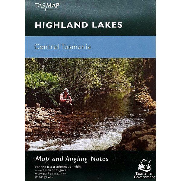Highland Lakes Central Tasmania Map