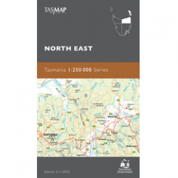 North East Tasmania 1-250k Topo Map