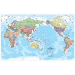 World Mega Laminated Wall Map