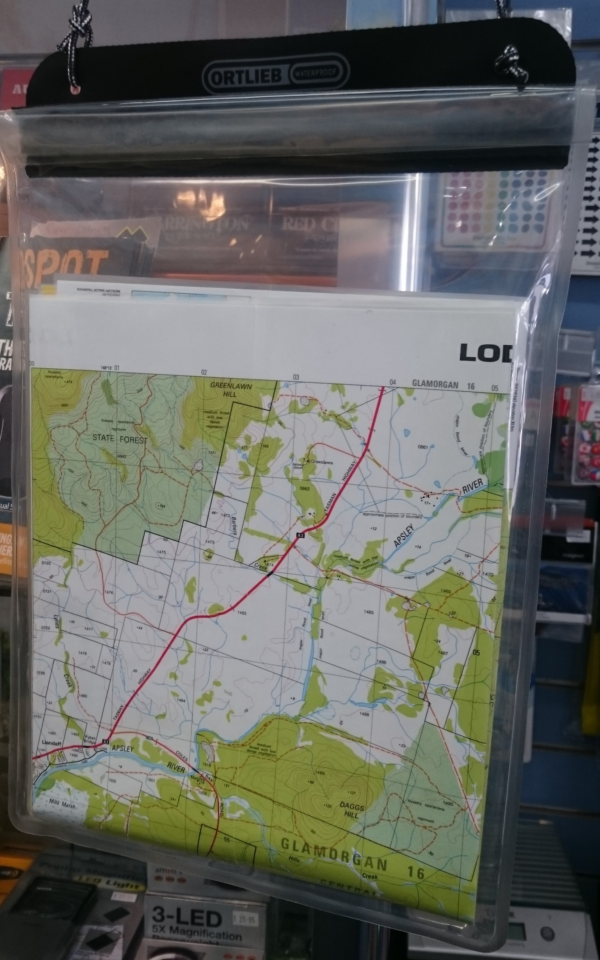 Waterproof Document Case A4 The Tasmanian Map Centre