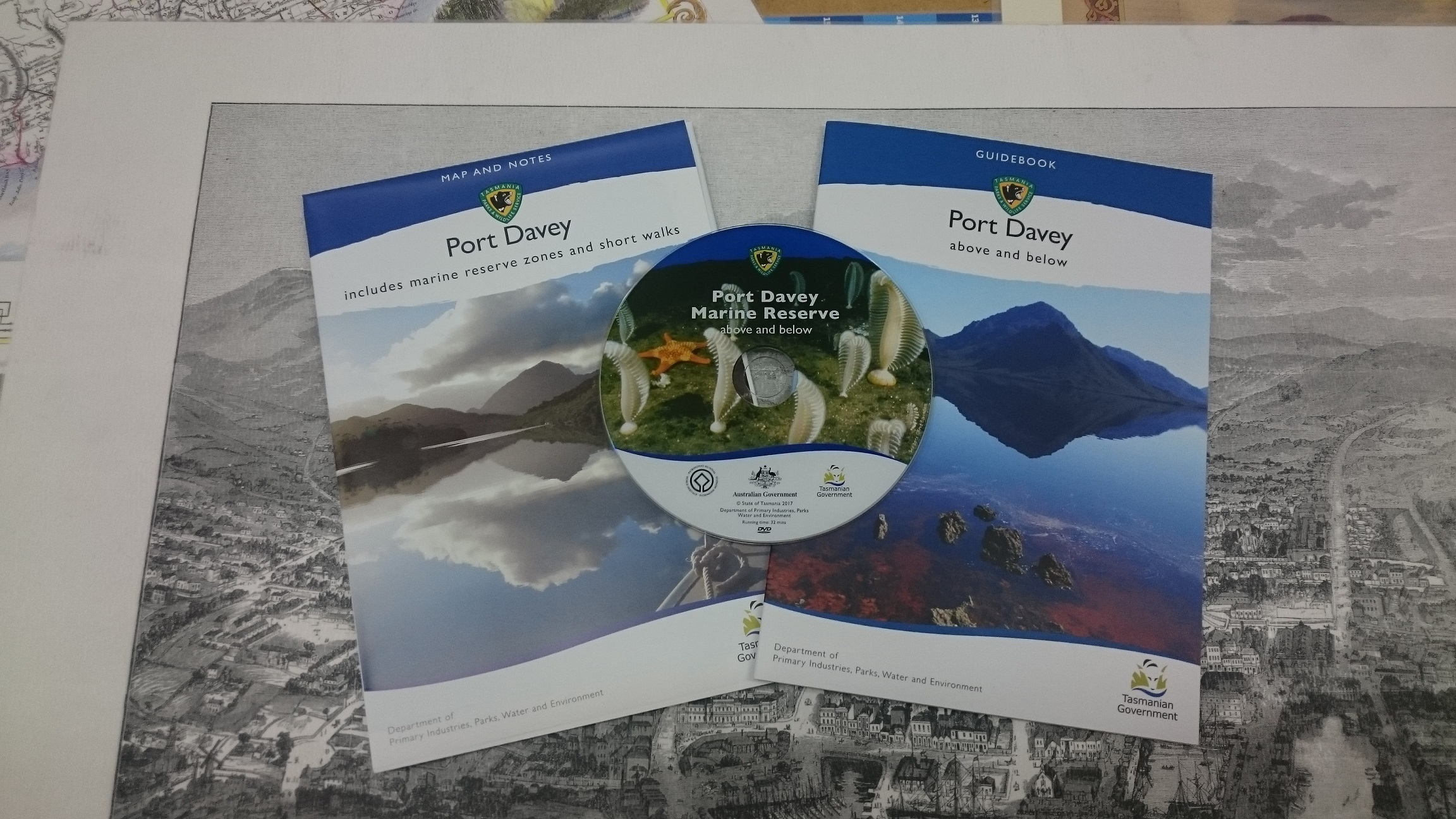 Port davey marine reserve visitors guide and map the tasmanian port davey map sample port davey map guide and dvd gumiabroncs Choice Image