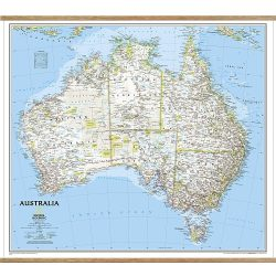 Australia Classic Wall Map on hangers