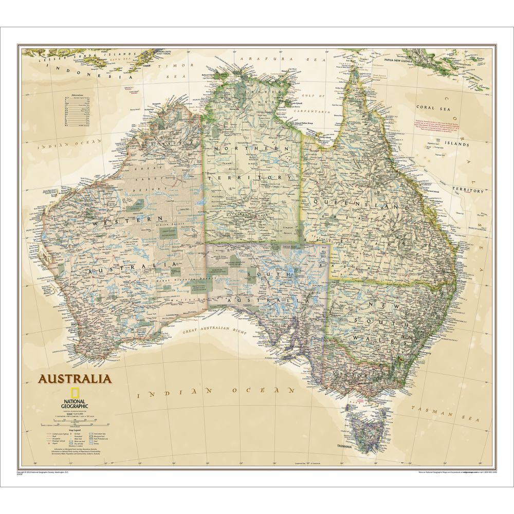 Australia Executive Wall Map - National Geographic on teaching maps, old maps, rand mcnally maps, geoportal maps, distance to distance maps, tom harrison maps, magellan geographix maps, war game maps, military grid maps, stephen alvarez, national geographic abu dhabi, national map viewer, gilbert hovey grosvenor, smithsonian maps, satellite maps, barry bishop, hrw world maps, hubbard medal, topographic maps, national rail, national geography bee winner, melville bell grosvenor, google maps, greenberg v. national geographic, national weather maps, national geographic image collection, national geographic channel, pennsylvania dot maps,