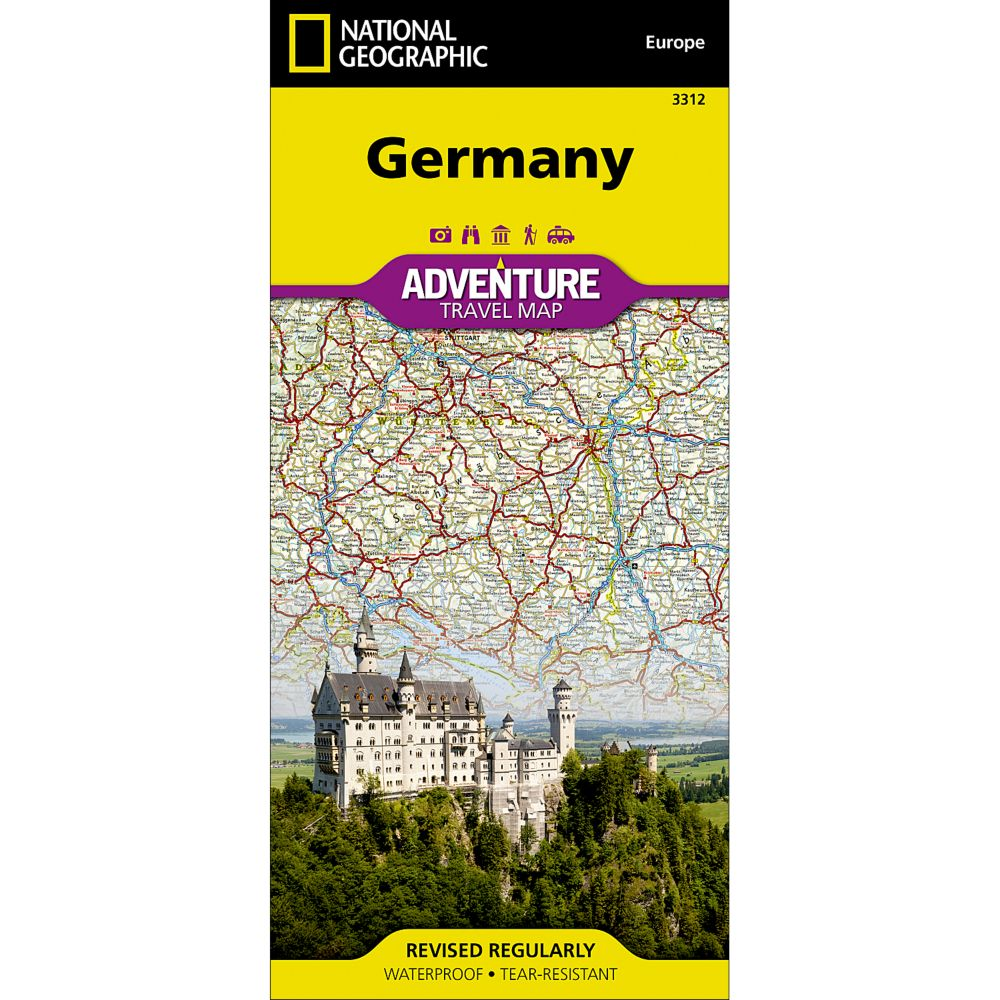germany adventure travel map the tasmanian map centre
