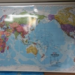 Hema Mega World Map on Rollers