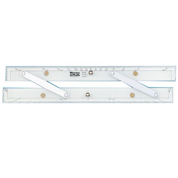 Parallel Ruler with Protractor Scale