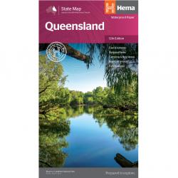 Queensland State Map Hema