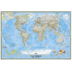 Large World Classic Wall Map