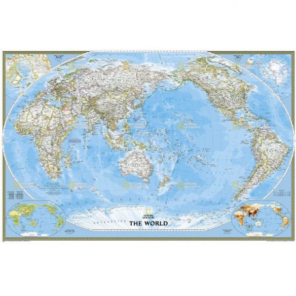 Pacific Centred World Map
