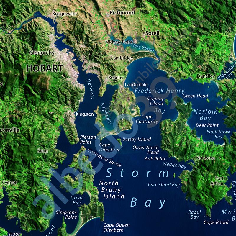 Tasmania Satellite Image The Tasmanian Map Centre