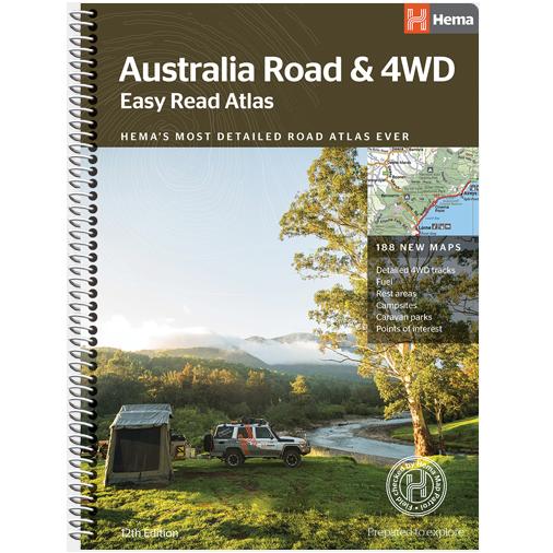 4wd Map Of Australia.Australia Easy Read Road 4wd Atlas