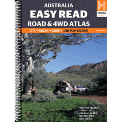 Australia Easy Read Road & 4WD Atlas