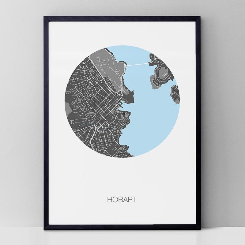 Hobart Round Art Print