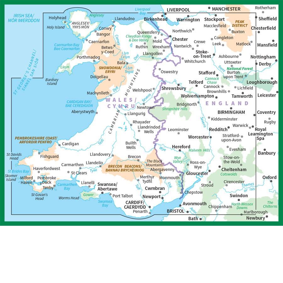 WalesCymru OS Road Map 6 The Tasmanian Map Centre