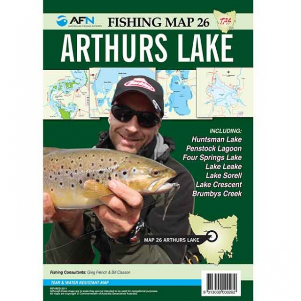 Arthurs Lake Fishing Map