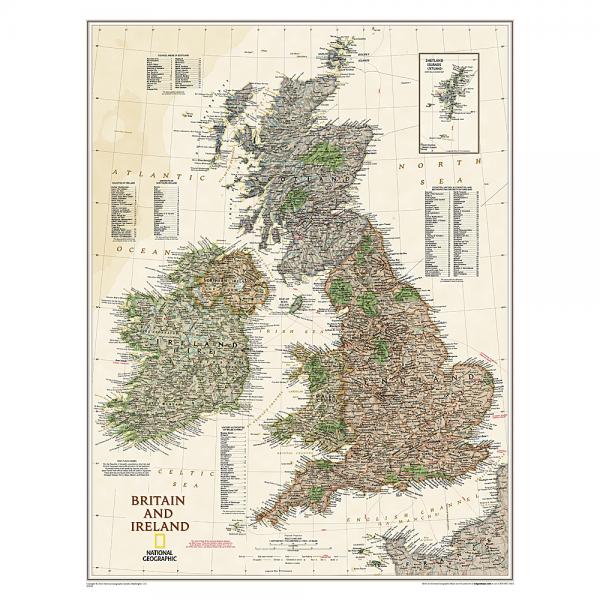 Britain & Ireland Executive Wall Map