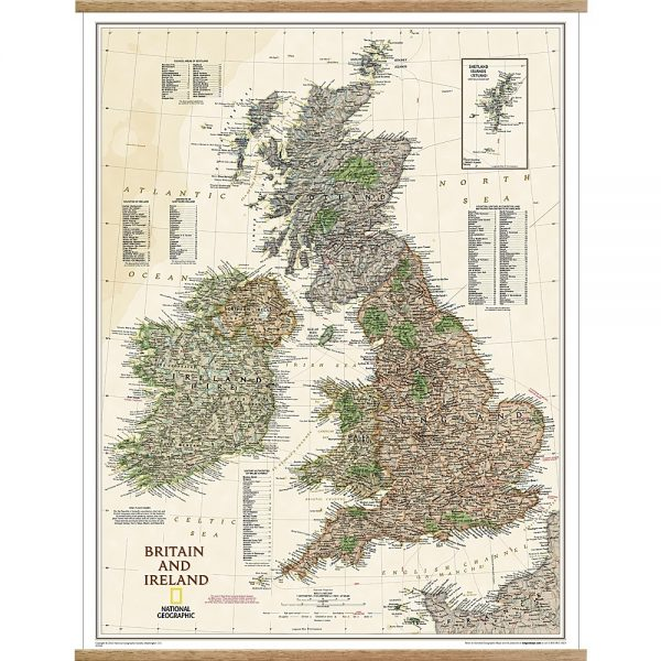 Britain & Ireland Executive Wall Map with hangers