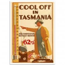 Cool off In Tasmania Vintage Travel Print