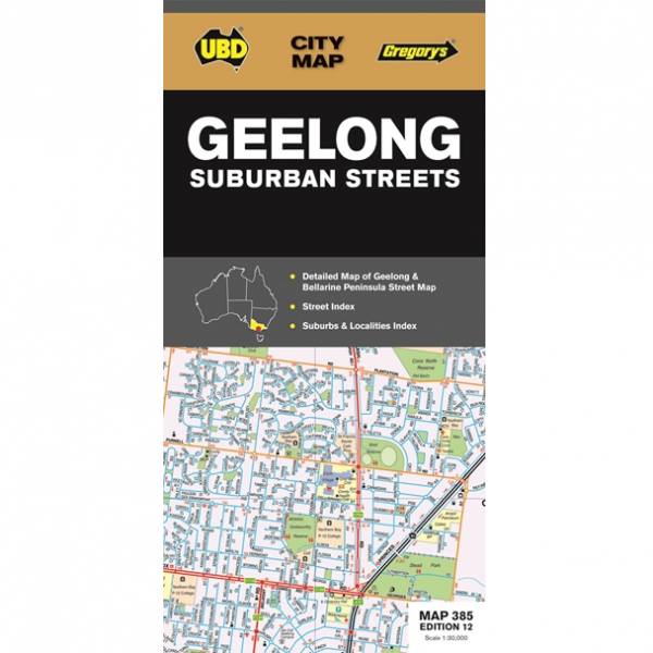 Geelong Suburban Streets Map 385