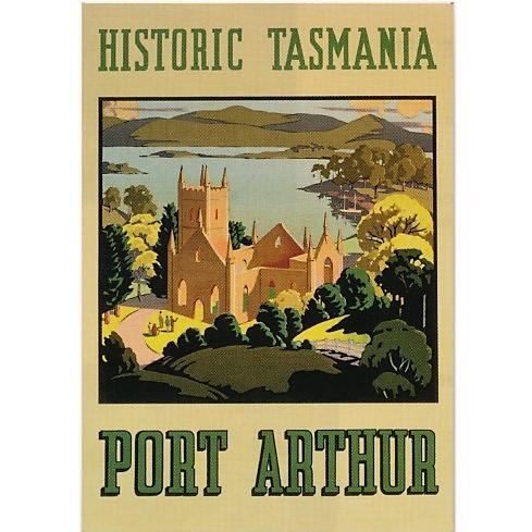 Historic Tasmania Port Arthur Vintage Travel Poster