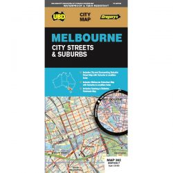 Melbourne City Streets & Suburbs Map 362