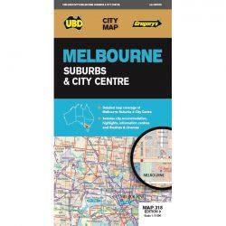 Melbourne Suburbs & City Centre Map 318