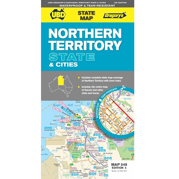Northern Territory State & Cities Map 549