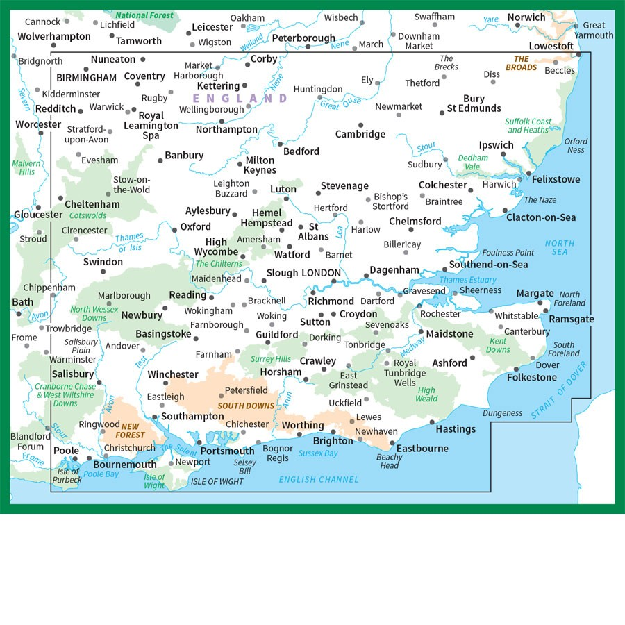 South East England Os Road Map 8 The Tasmanian Map Centre