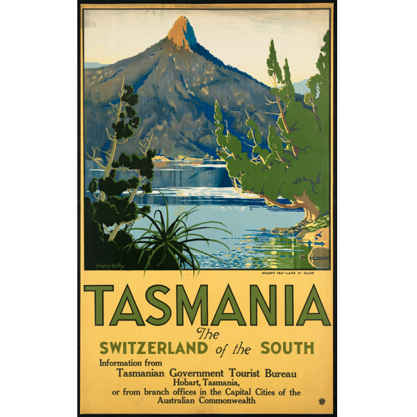 Tasmania Switzerland of the South Vintage Travel Print