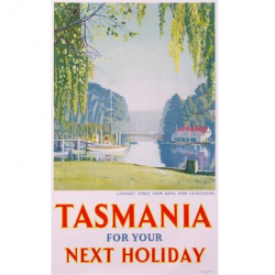 Tasmania for your next Holiday Vintage Travel Print