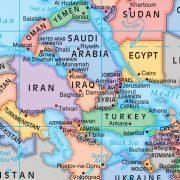 Upside Down World Wall Map Sample