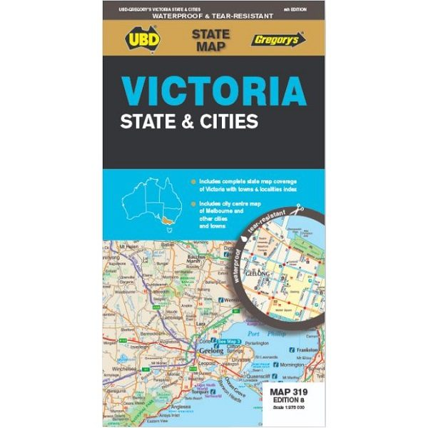 Victoria State & Cities Map 319