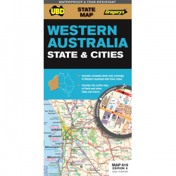 Western Australia State & Cities Map