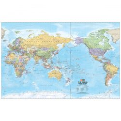 Mega World Laminated Wall Map