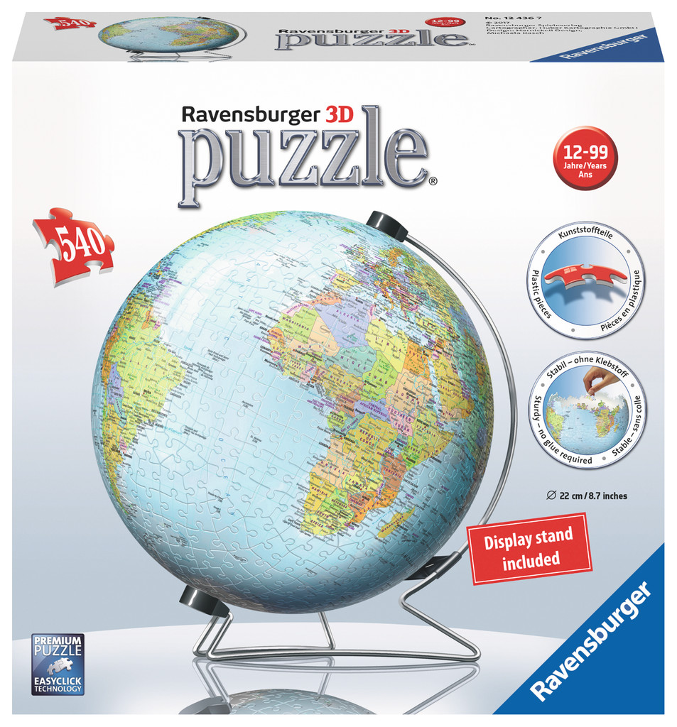 3d world puzzle globe the tasmanian map centre 3d world puzzle globe gumiabroncs Image collections