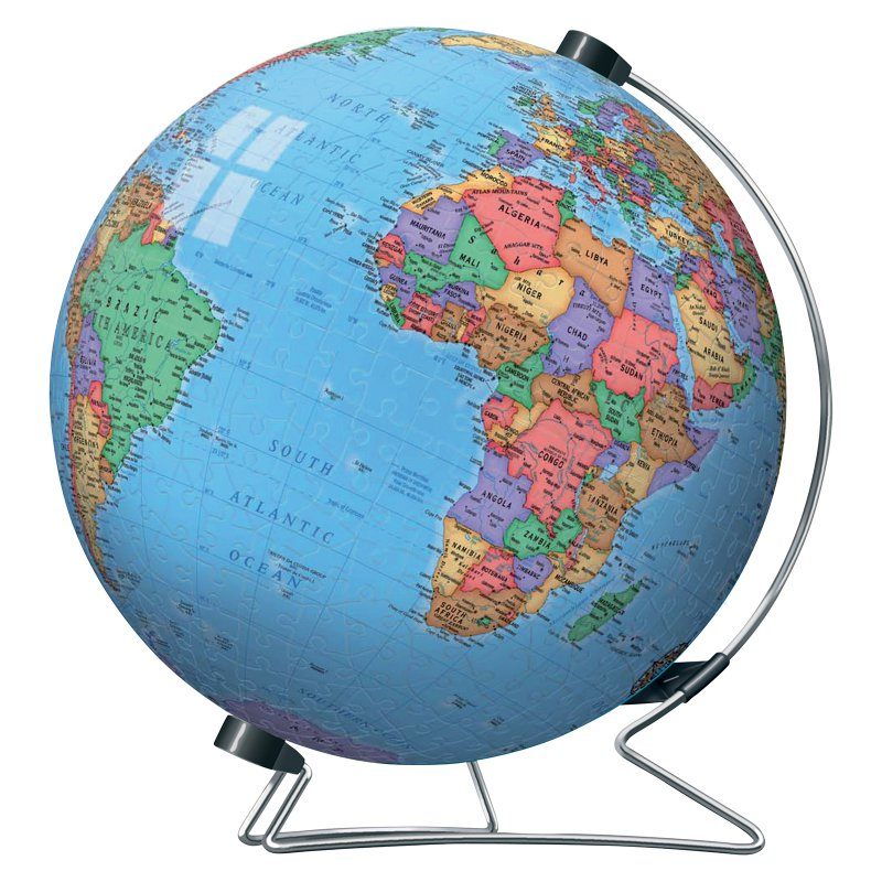 3d World Puzzle Globe The Tasmanian Map Centre