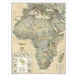 Africa Executive Wall Map
