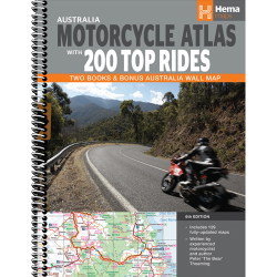 Australia Motorcycle Atlas + 200 Top Rides