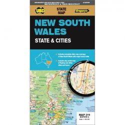New South Wales State & Cities Map 219