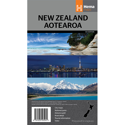 New Zealand Aotearoa Map